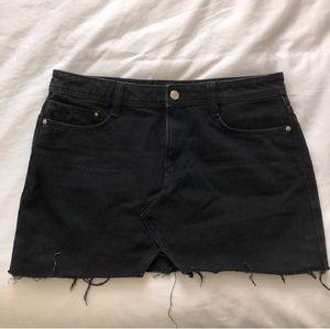 Zara Black Jean denim skirt